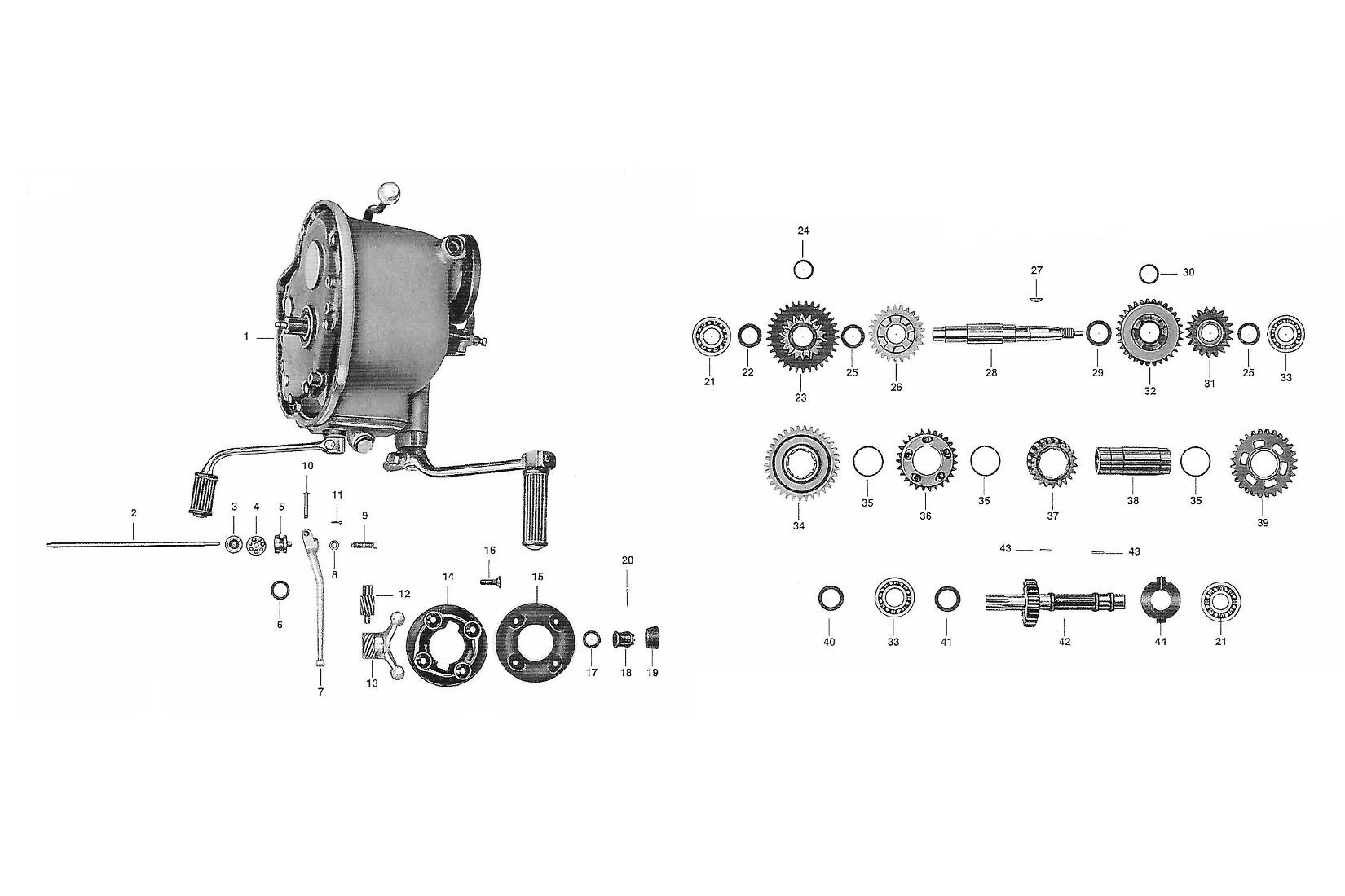 getriebe awo 425 touren mmm ersatzteil nachbauten. Black Bedroom Furniture Sets. Home Design Ideas