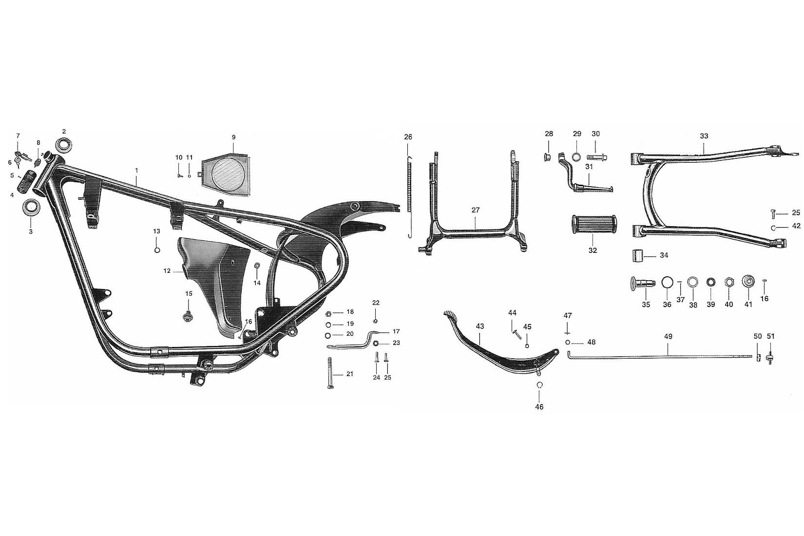 Rahmen AWO 425 Sport » MMM Ersatzteil-Nachbauten