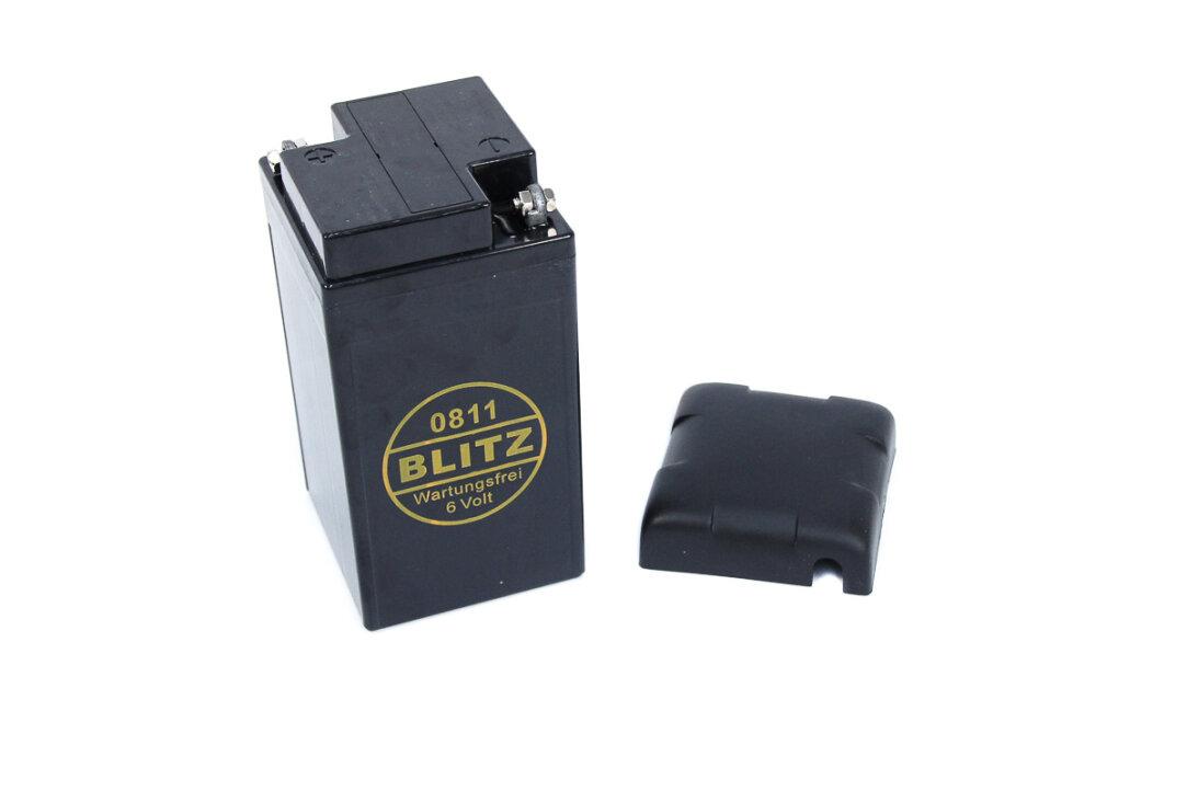 batterie 6v 12ah vliesbatterie 0811 mit deckel f r. Black Bedroom Furniture Sets. Home Design Ideas